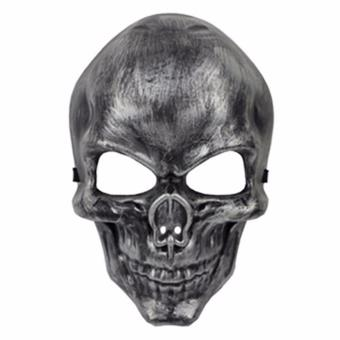 Skull Face Mask Costume Accessory (Silver)