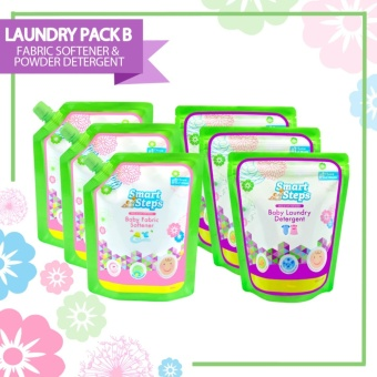 Smart Steps Clean Clothes Pack: Powder Detergent 900g (Set of 3) +Fabric Conditioner 900mL (Set of 3)