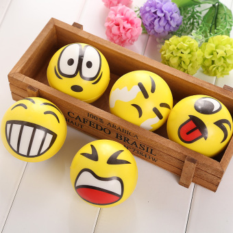 Smiley Ball Smiley Stress Ball Smiley Squeeze Ball Anti Stress Reliever Toys