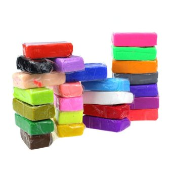 Soft Malleable Fimo Polymer Clay Blocks Plasticine(24pcs)