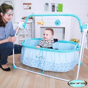 Soothing Motions Baby Cradle Swing Primi Blue