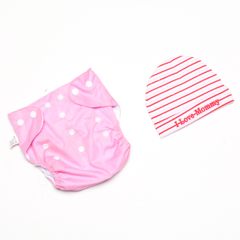 Sophie Cloth Diaper and Bonnet set - Pink Price Philippines