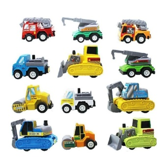 Special Promotion Chinese New Year Sale Mini Car Truck Pull Back Toy Car 12-Piece Set For Boy Girl Child - intl