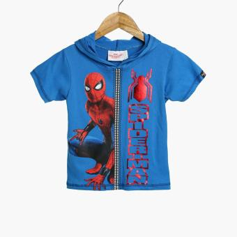 Spider-man Baby Boys Hooded Graphic Tee (Blue)