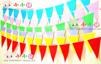 Sports the birthday party banners paper flags