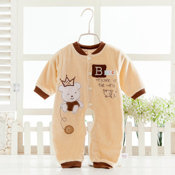 Spring and Autumn thin double layer for men and women baby romper baby coveralls