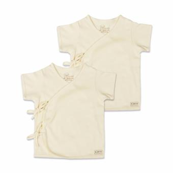 St Patrick baby Organic Tie-Side Shirt Short Sleeves 2x top (3-6m)