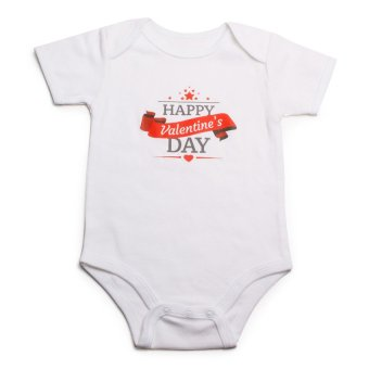 Stache Happy Valentine's Day Onesie Jumpers and Rompers (White)