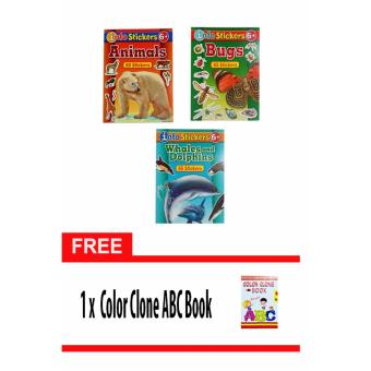 Sticker and Activity Book, Set of 3 with Free Color Clone ABC Book