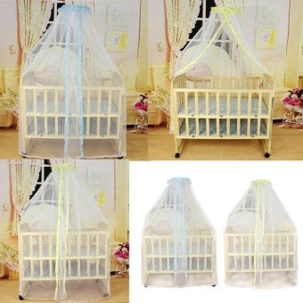 Summer Baby Bed Mosquito Mesh Dome Curtain Net for Toddler Crib CotCanopy - intl