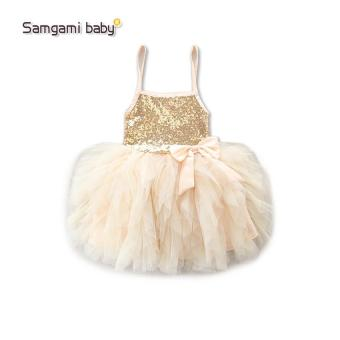Summer Girls Wedding & Birthday Party One-Piece sleeveless Dresses Princess Children Clothes For Baby girl Clothing tutu dress - intl - 4