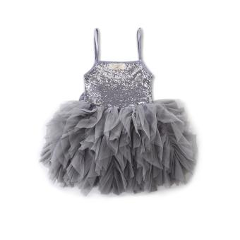 Summer Girls Wedding & Birthday Party One-Piece sleeveless Dresses Princess Children Clothes For Baby girl Clothing tutu dress - intl - 3