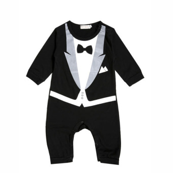 SuperCart Kids Romper Gentleman Suit Climb Clothes Outwear Black