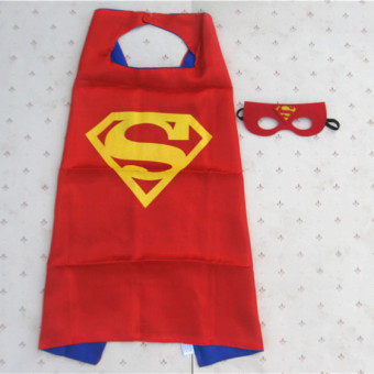 Superman 70cm wrist children's cloak Cape eye patch Halloween cloak