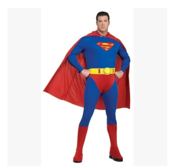 Superman adult children cloak costume