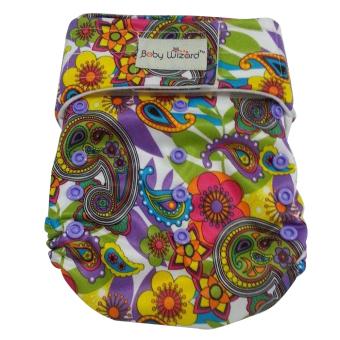 Supreme Velcro Cloth Diaper with Microfiber Insert XL (Floral)