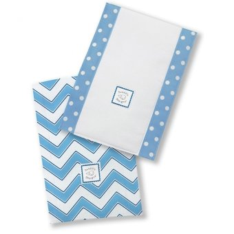 Swaddle Designs Baby Burpies Chevron Set of 2 (Blue)