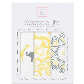 Swaddle Designs Lush Swaddle Lite Set of 3 (Yellow)