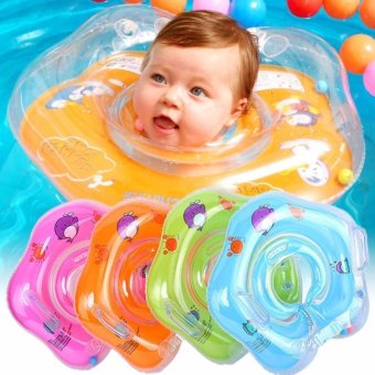 Swimming baby accessories neck ring Tube Safety infant float circle for bathing Inflatable - intl