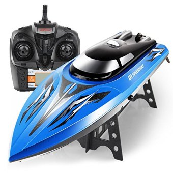 Syma New Q1 2.4GHZ 4CH Children's Toys Speed RC Boat HighPerformance Waterproof Boat-Blue Price Philippines