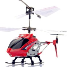 Syma S107G RC Helicopter Model Toys Mini Metal 35CH With Gyro Remote Control Red