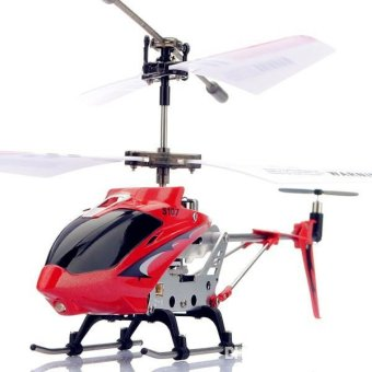 Syma S107G RC Helicopter Model Toys Mini Metal 3.5CH with GyroRemote Control (Red)
