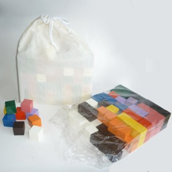 Tahanang Walang Hagdanan 100inch Cubes with Pouch Bag (Multicolor)