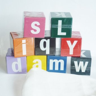 Tahanang Walang Hagdanan Alphabet Blocks Wooden Toy (Multicolor)