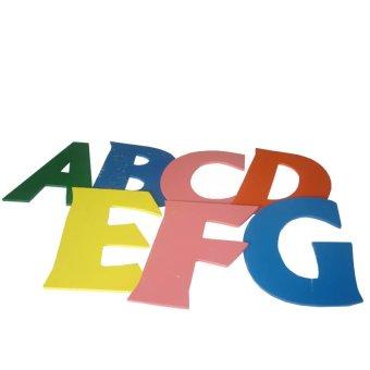 Tahanang Walang Hagdanan Cut-Out Alphabets Wooden Toy (Multicolor)