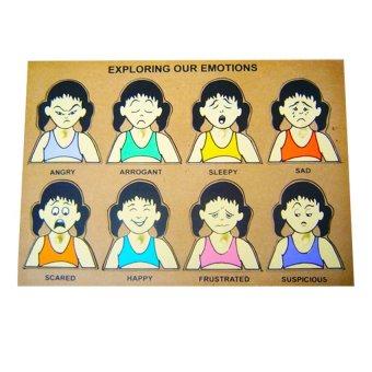 Tahanang Walang Hagdanan Exploring Our Emotions Wooden Toy (Multicolor)