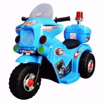 TC-005 Rechargeable Motor Bike Kids Ride-on Toys Police Motorcycle(Blue)