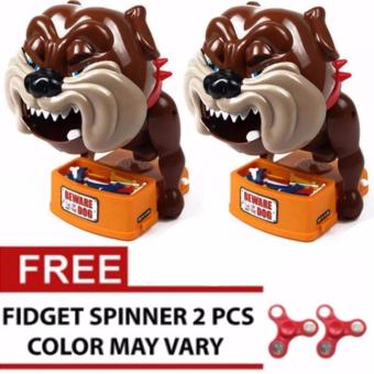 Techciti Bad Dog Beware Of the Dog Biting Game Set of 2 With Free Assorted 2pcs Spinner