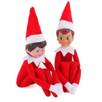 The Elf On The Shelf Figure Christmas Novelty Toys Xmas Gift Plush Dolls For Kids Child Boy (Red) (Intl) - picture 2