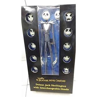 The Nightmare Before Christmas Jack Skellington 15″ Figure 12 Skull Heads Doll - intl - picture 2