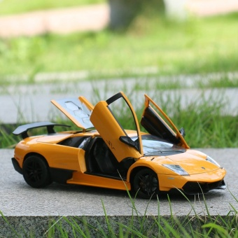 The United States Lamborghini Poison 1:24 Alloy Car Model Factory Simulation Of Children's toys Collection Gift Ornaments - intl