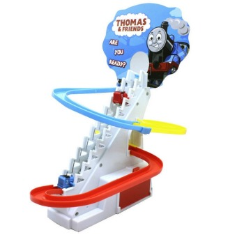 Thomas And Friends Trackmaster Climbing stairs set ,Tomas train LEDlight music Electric Rail Road kits boy assembly toys car - 2