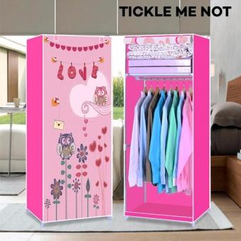 Tickle 3D Single Fashion Wardrobe Closet Owl Pink Design