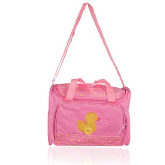 Tickle A-010 Cutie Little Yellow Duck Design Diaper Bag (Pink)