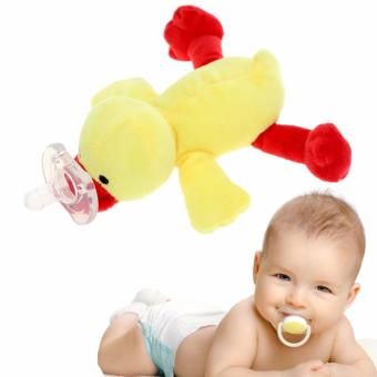 Tickle Little Pacifier Yellow Duck Design