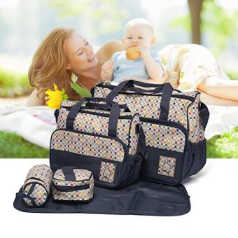 Tickle TMN- 124 5-in-1 Multi-function Baby Diaper Tote Handbag Set(Blue)