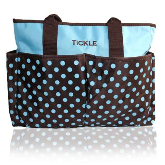 Tickle TMN-150 Cute Polkadots Baby Diaper Bag (Blue)
