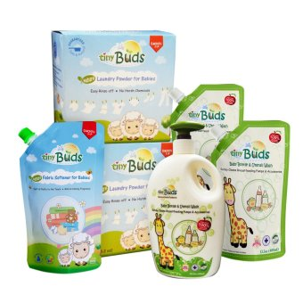 Tiny Buds Natural Baby Bottle Wash and Laundry Set