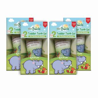 Tiny Buds Natural Kiddie Toothgel Stage 2 Set of 4