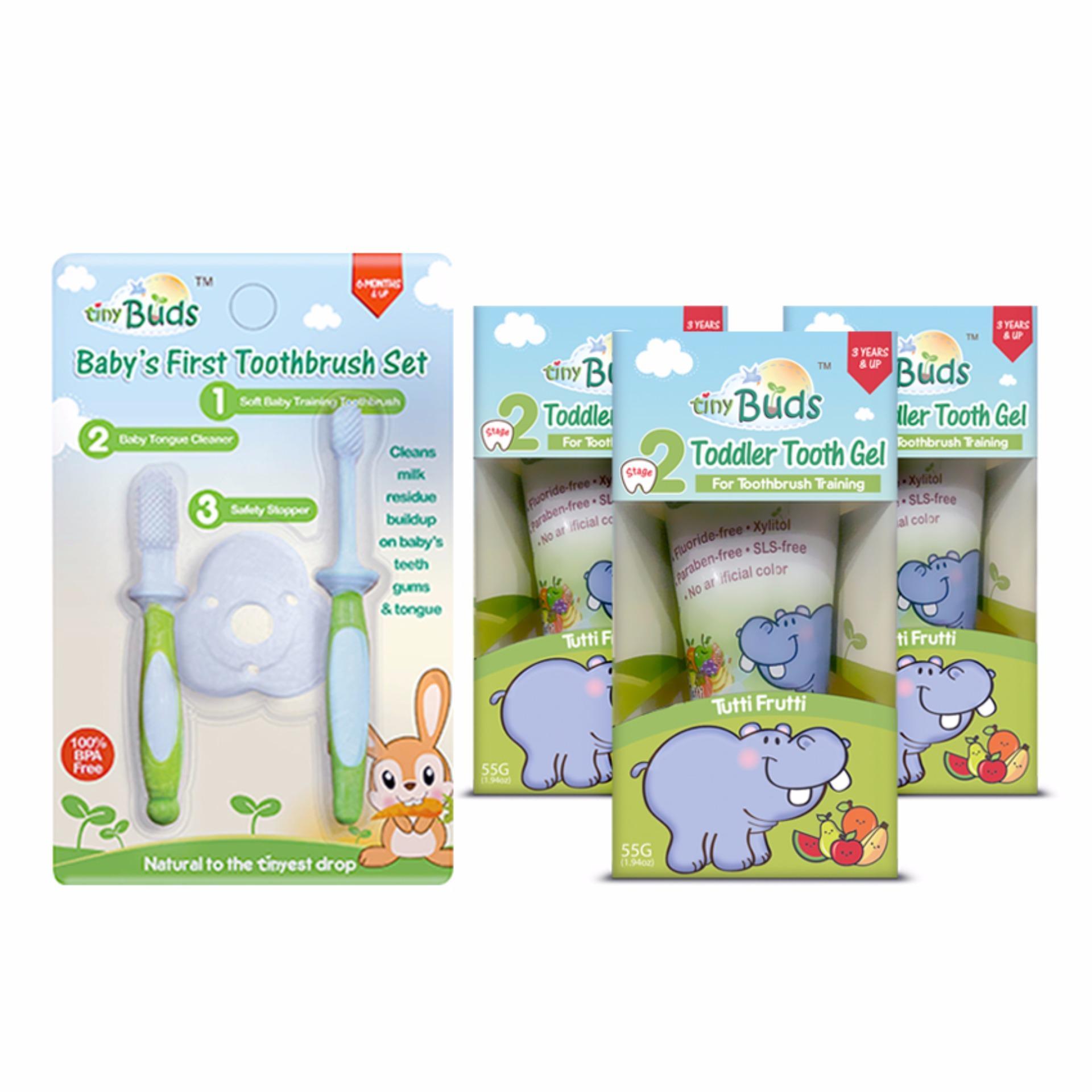Tiny Buds Toddler Toothbrush Training Set