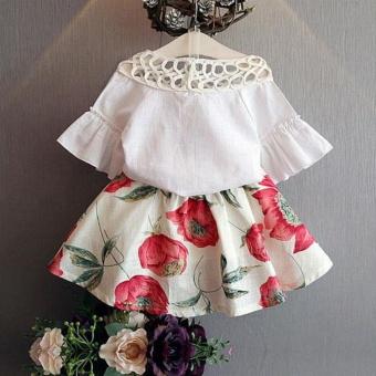 Toddler Kids Baby Girls T-shirt Tops+Skirt Dress Summer Outfits Clothes 2PCS Set - intl - 2