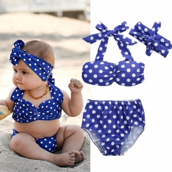Toddler Summer Kids Baby Girls Bikini Swimwear Set Swimsuit Bathing Suit - intl