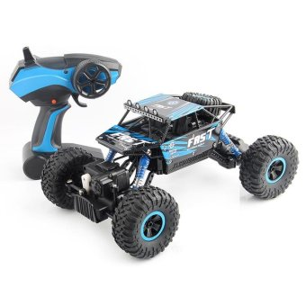 TOMSOO 1PC Remote Control Off Road Racer Rc Truck Car 4WD Off Road Vehicle Child Toy??blue) - intl