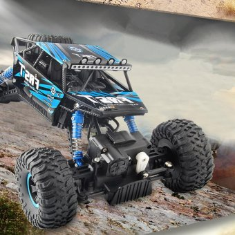 TOMSOO 1PC Remote Control Off Road Racer Rc Truck Car 4WD Off Road Vehicle Child Toy??blue) - intl - 2