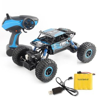 TOMSOO 1PC Remote Control Off Road Racer Rc Truck Car 4WD Off Road Vehicle Child Toy??blue) - intl - 4