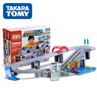 Tomy car building parking field high-speed suit